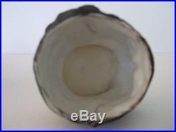 Antique Black Americana Bisque Porcelain Tobacco Jar Black Man with Top Hat
