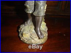 Antique Black Americana Black Boy Figure Cigar Holder Terracotta Johann Maresch