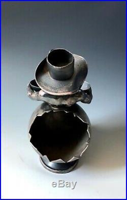 Antique Black Americana CIGAR HOLDER Wilcox Silverplate 1879