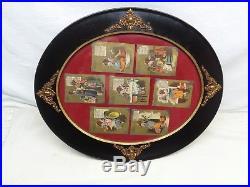 Antique Black Americana Complete set of Mon thru Sun Cards withFrame