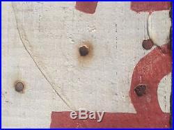 Antique Black Americana Hand Painted Folk Art Advertising Sign