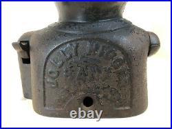 Antique Black Americana Jolly Mechanical Cast Iron Bank
