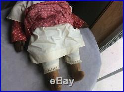 Antique Black Americana Memorabilia Folk Art Doll Civil War Era mid 1800's