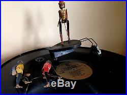 Antique Black Americana Ragtime Rastus Dancing Toy phonograph & Darkies Boxing