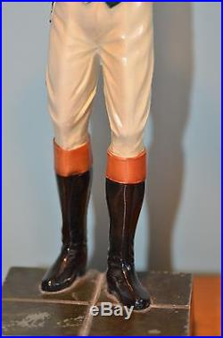 Antique Black Americana Spelter Lawn Jockey Vintage Lawn Jockey Statue