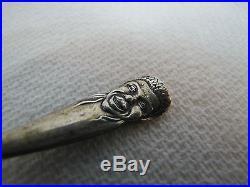 Antique Black Americana Sterling Silver Spoon Adv Braidentown Florida ornate