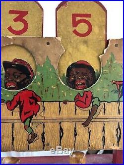 Antique Black Americana Target Bowling Game Dated 1914 Vintage