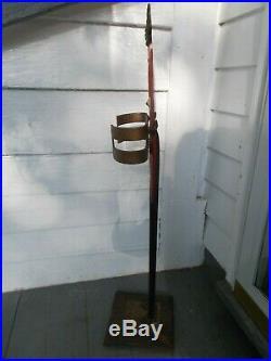 Antique Cast Iron Black Americana Butler Cane Stand, Umbrella, Pool Stick Stand