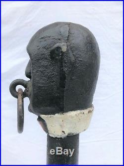 Antique Cast Iron Hitching Post Black Servant Black Americana