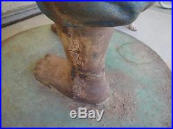 Antique Cast Iron Lawn Jockey Hitching Post Black Americana