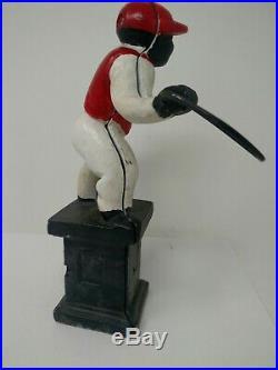 Antique Cast Iron Lawn Jockey/ Hitching Post Jocko 11 Inch tall