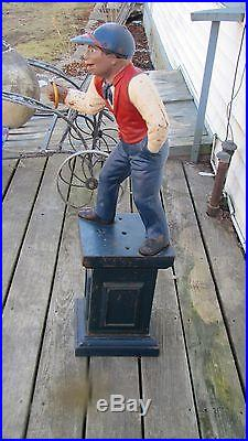 Antique Cast Iron Lawn Jockey Jocko Black Americana 38