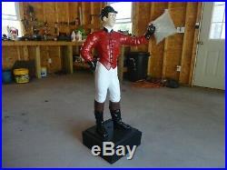 Antique Cast Iron Lawn Jockey McKittrick Foundry Co. N. J