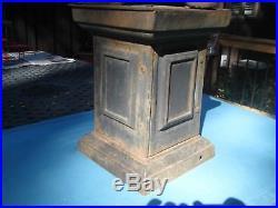 Antique Cast Iron Lawn Jockey With Lantern
