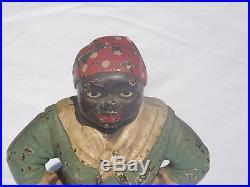 Antique Cast Iron Mammy Doorstop Authentic Black Memorabilia
