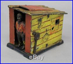 Antique Cast Iron Stevens Mechanical Bank, Blackman & Shack, Black Americana