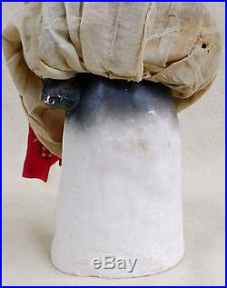 Antique Chalk Aunt Jemima Mammy Heavy Doorstop Statue Black Americana Folk Art
