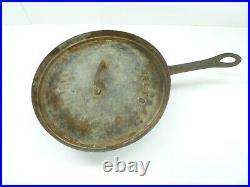 Antique Civil War Era Skillet Primitive Cast Iron Frying Pan 13 3-Legs 1800s