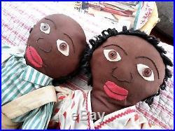 Antique Cloth Dolls Black Americana Sambo & Miranda Original McCall Pattern19