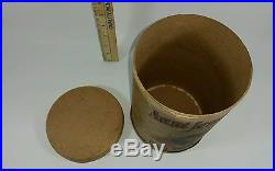 Antique Early Aunt Jemima Pancake Flour Paper Canister Tube Black Americana 8.5