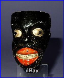 Antique Figural Tobacco Pipe Exaggerated African Black Americana Man's Head ZZ