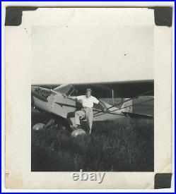 Antique Harlem Airport Near Chicago Possible Tuskegee Airman Pilot Rare IL Photo