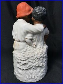 Antique Heubach A Dark Secret German Figurine Black Americana 6 1/4