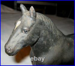 Antique Hubley Black Percheron Country Farm Draft Work Horse Cast Iron Doorstop