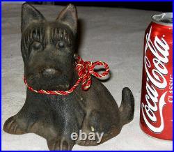 Antique Hubley Fala Scotty Dog Doorstop Cast Iron Scottish Terrier Door Statue