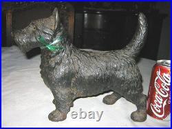 Antique Hubley Scottish Terrier Cast Iron Dog Doorstop Art Toy Sculpture Statue