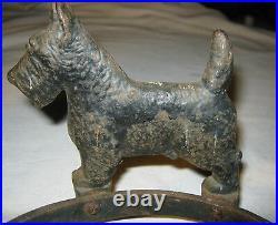 Antique Hubley USA # 305 Cast Iron Ring Dog Food Water Bowl Stand Holder Bracket