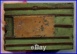 Antique J. E Stevens Black Americana Cast Iron Mechanical Bank, Slave Shack Cabin