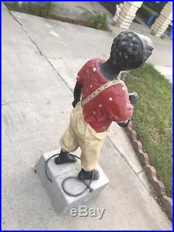 Antique Lawn Jockey Hitching Post Americana
