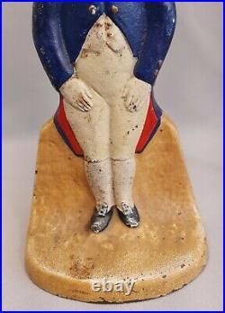 Antique Major-domo Black Americana Butler Cast Iron Doorstop Cjo Judd Sculpture