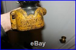 Antique Original Cast Iron Dinah Mechanical Bank Black Americana England