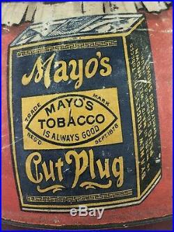 Antique Original Mammy Roly Poly Mayo Tobacco Tin Litho Black Americana