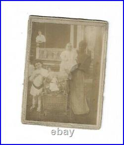 Antique Photo Black African American Nanny White Baby Children Slave Victorian