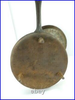 Antique Primitive Cast Iron Spider Frying Pan Era Skillet 13 18-1900s Balto Lid