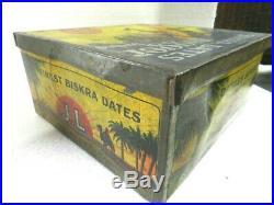 Antique Racist Black Americana Advertising Tin Box Sahara Dates Jl Datiles 1900