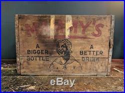Antique Rare Mammy's Soda Wood Bottle Crate Black Americana Philadelphia