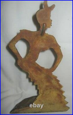 Antique Rhumba Dancing Black Americana African Lady Cast Iron Doorstop Hubley Us