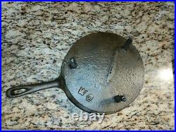 Antique Spider Skillet Primitive Cast Iron Frying Pan Gate Mark #10 3 Legs WithLid