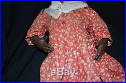 Antique Tony Sarg's Black Americana Mammy Doll withtag 18 in