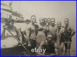 Antique Vintage African American Flapper Era Beach Bathers Swimsuits Rare Photo