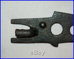 Antique Vtg 19th C 1890s Cast Iron Figural Fish Shaped Stove Plate Lid Lifter