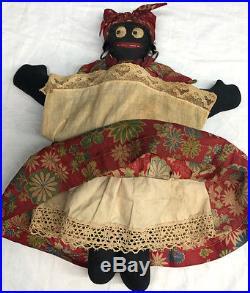 Antique c. 1920s African-American Black Americana Folk Art Rag Doll New Orleans