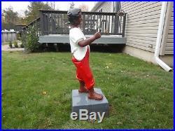 Antique cast iron black americana lawn jockey