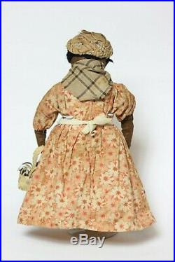 Antique early American black doll 19th Century, United States
