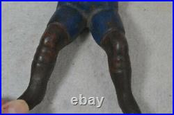 Antique naughty Nellie old paint cast iron boot jack puller original 19th c