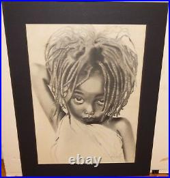 Asha Brown Sugar Young Girl Large Hand Signed In Ink Poster